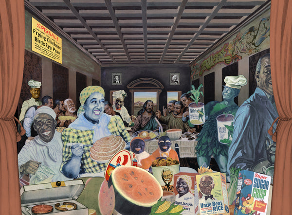 the museum of humor art nelson de la nuez moha yo mama last supper aunt jemima jesus happy meal jolly green giant religion