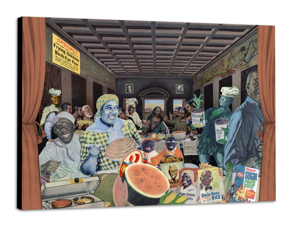 Yo Mama's Last Supper Canvas
