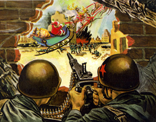 terrorist Christmas humor art santa claus museum of humor art the MOHA