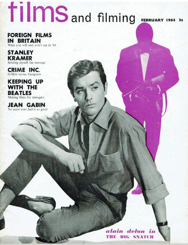 Films and Filming magazine February 1964,  'Alain Delon' cover
