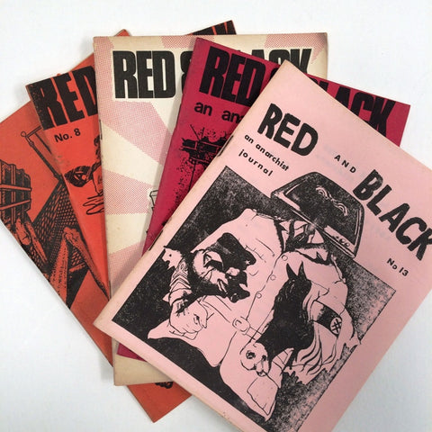 Red and Black Anarchist Journal 5 copies