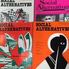 Social Alternative magazine 4 issues 1980's