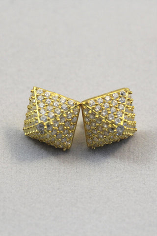 Pyramid Studs in Gold
