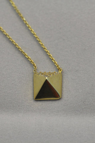 Pyramid Necklace in Gold