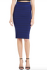 Cobalt Striped High-Waisted Bodycon Skirt