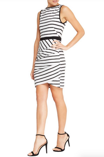 Striped Sleeveless Sheath Dress
