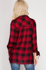 Red and Black Plaid Blouse
