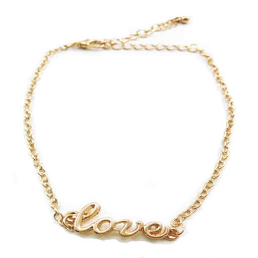 Beautiful Gold Love Anklet