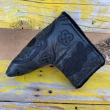Black'd Out Leather Sugar Skull Putter covers, Limited Run