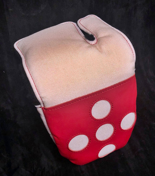 5-Dot Logo Mallet covers, Leather and Ballistic Nylon, Very Limited