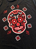 Sugar Skull T-Shirts in Black with Red/White Skull and Logo