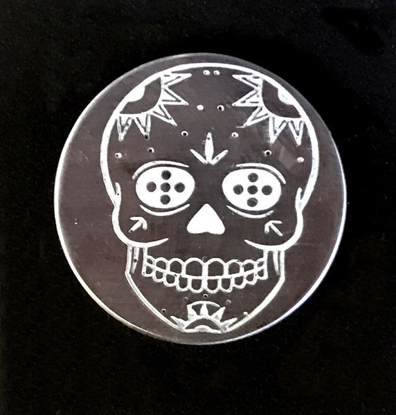 Sugar Skull engraved HandKrafted Ballmarker in 303SS