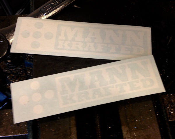 MannKrafted Window Stickers, 2-Pack