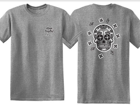 Sugar Skull Super-Soft Gray T-Shirts