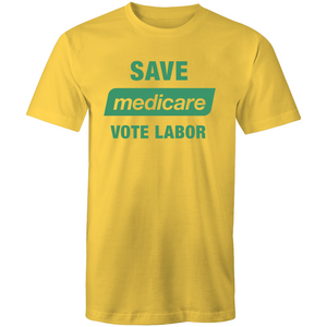 2019: Save Medicare Labor Tee - Unisex (yellow/green, white, green)