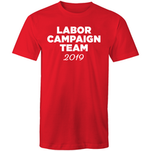 2019: Labor Campaign Team Tee - Unisex (red/white, white/red, grey/red)