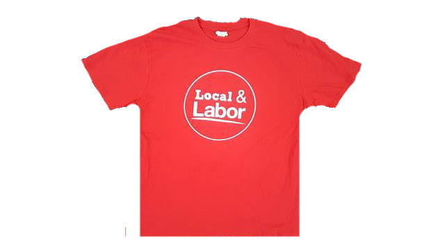Local and Labor Red T-Shirt