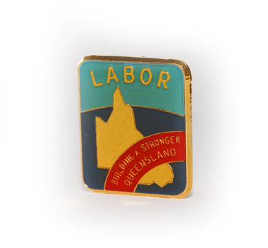 Limited Reprint: Vintage Queensland Labor Badge (Gold Plated)