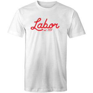 Vintage Labor: Labor Tee Number 2 - Unisex (white/red, red/white, grey/red)