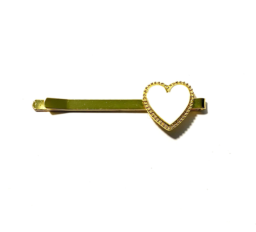 Heart Clip (Cream)