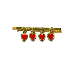 Chain of Hearts Clip (Red)
