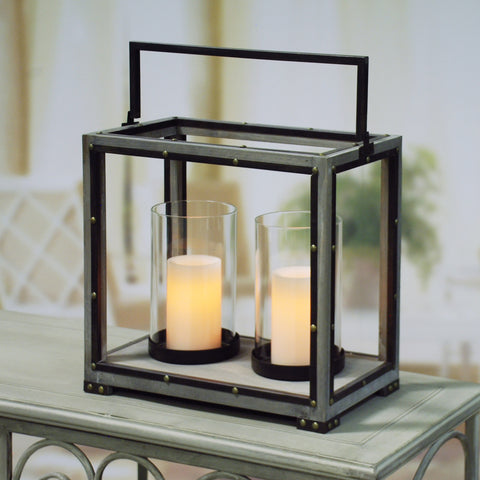 DOUBLE HURRICANE CANDLE HOLDER BOX