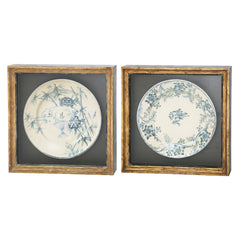 ANTIQUE PLATES WALL FRAME SET OF 2