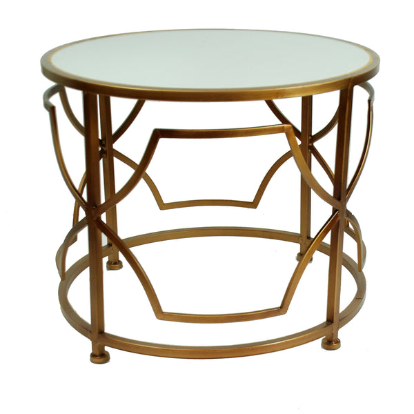 "METAL GEO ACCENT TABLE 22""X22""X18"""