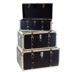 FAUX CROCO LEATHER TRUNK