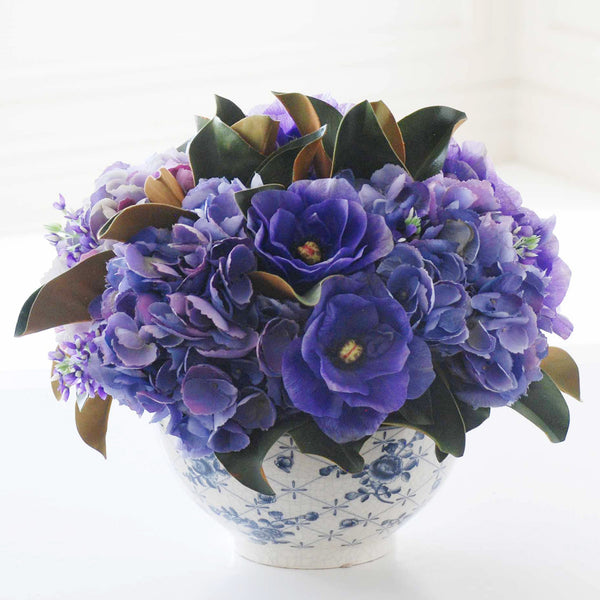 HYDRANGEA AND ANEMONE IN BOWL
