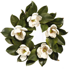 WREATH MAGNOLIA WHITE 16''