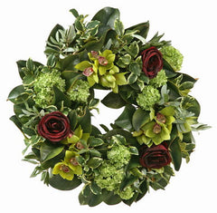 CYMBIDIUM ROSE DUET WREATH