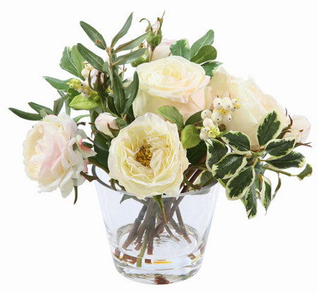 RETRO CHIC ROSE IN GLASS