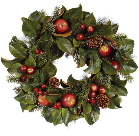 PINECONE/APPLE/FOLIAGE WREATH 24''