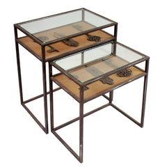HIDDEN TREASURES KEY NESTING TABLES SET OF 2