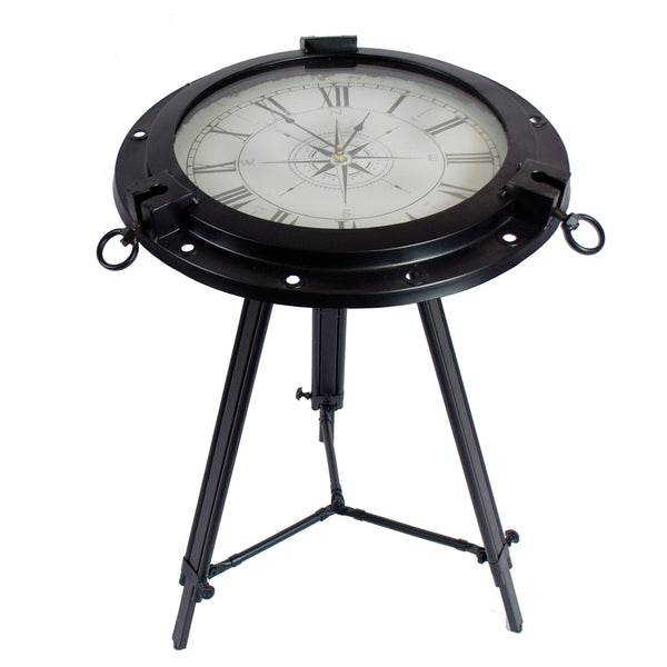 VINTAGE CLOCK TRIPOD TABLE