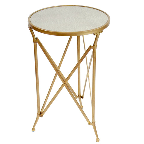 MERCURY MIRROR ACCENT TABLE