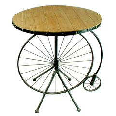 "RUSTIC BICYCLE ACCENT TABLE 31"" TALL"