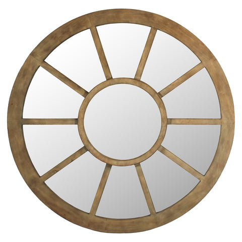 MONTGOMERY WAGON WHEEL MIRROR 50""