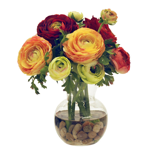 RANUNCULUS BOUQUET IN BUD VASE 12""