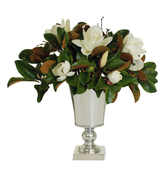 MAGNOLIAS IN METAL URN 29""