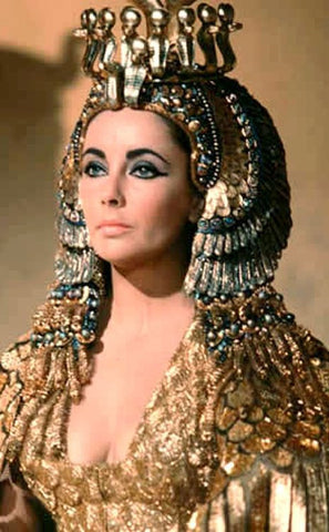 Liz Taylor wearing Emeralds in Cleopatra