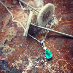 Emerald and Diamond Necklace for Mother's Day