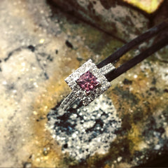 Handmade Pink Diamond Ring by Bill Hicks Jewellery Design