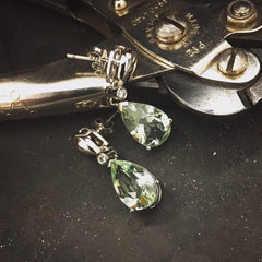 Green Quartz Earring for Mother's Day