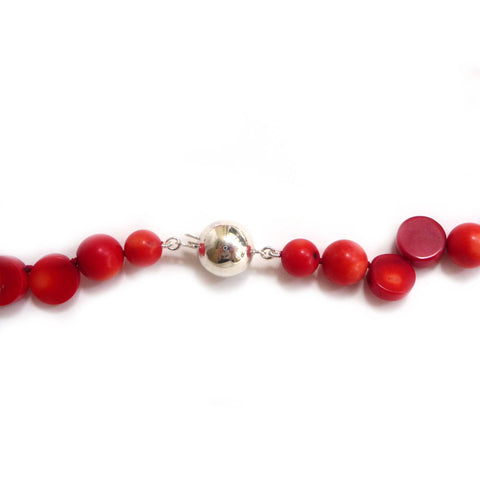 60cm Coral & Freshwater Pearl Necklace