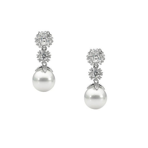 Sparkling Freshwater Pearl Earrings