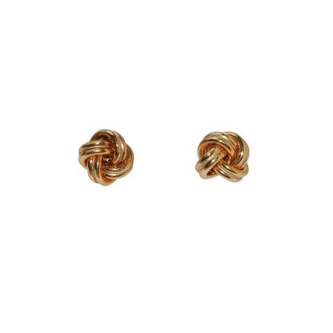 Yellow Gold Knot Stud earrings
