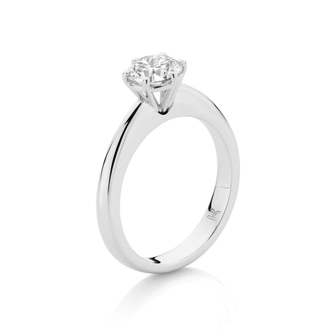 Fine Wire Claw Set Diamond Solitaire Ring