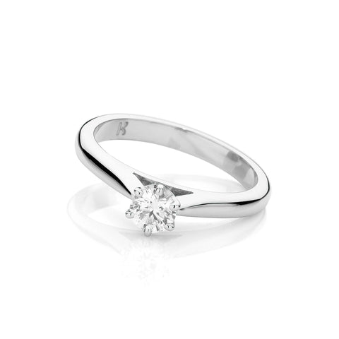 Extra Fine Diamond Solitaire Ring